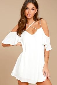 Afterglow White Shift Dress