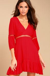 Love Letters Red Skater Dress