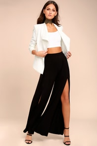 Knockout Black Wide Leg Pants