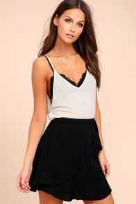 On the Sway Black Wrap Skirt