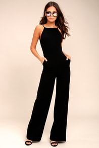 Something to Behold Black Jumpsuit