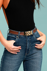 Vanessa Mooney Misfit Brown Leather Belt