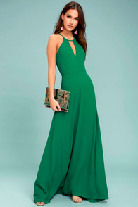 Beauty and Grace Green Maxi Dress