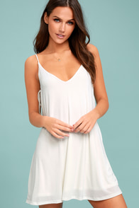 Back in Love White Swing Dress