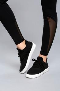 Steve Madden Lancer Black Sneakers