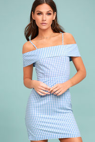 Beach Picnic Blue and White Gingham Dress