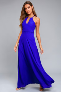 Beauty and Grace Royal Blue Maxi Dress