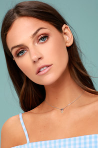 Hearts of Palm Silver Choker Necklace