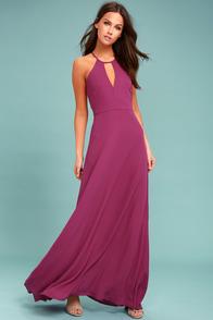 Beauty and Grace Magenta Maxi Dress