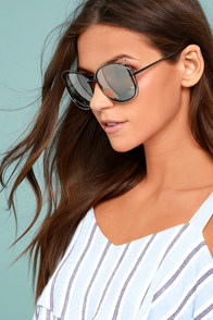 The Keys Silver Mirrored Sunglasses