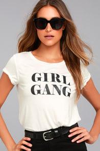 Girl Gang White Tee