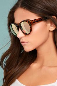 Perverse Declan Tortoise and Pink Mirrored Sunglasses