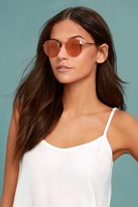 Crap Eyewear The Tuff Patrol Rose Gold Mirrored Sunglasses