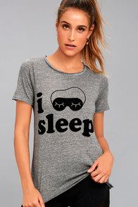 Chaser I Sleep Sleep Heather Grey Tee
