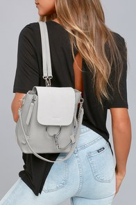 Sidewalk Stunner Grey Backpack