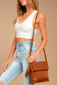 Heart of the Nomad Brown Suede Leather Purse