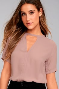 Simply Sophisticated Mauve Top
