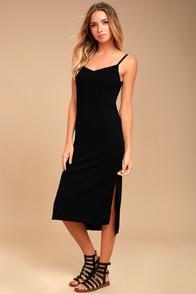 Billabong Great News Black Midi Dress