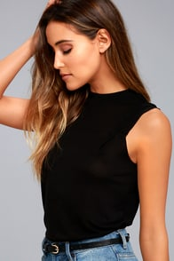 Cheap Monday Pioneer Black Tank Top
