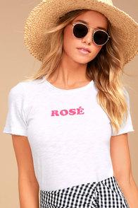 Chaser Rose White Tee