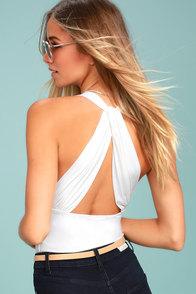 Hot-Cha-Cha White Bodysuit