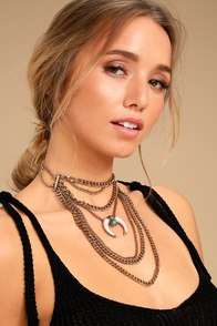 Sedona Sun Gold Layered Choker Necklace
