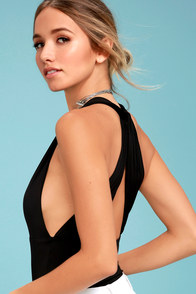 Hot-Cha-Cha Black Bodysuit at Lulus.com!