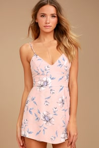 Magical Meadow Blush Pink Floral Print Skort Dress