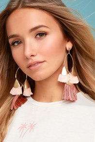 Ettika Destiny Around You Gold and Terra Cotta Earrings
