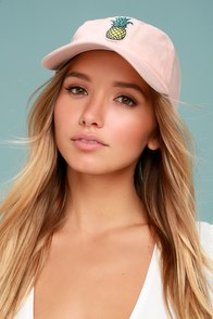 Fresh Squeezed Blush Pink Baseball Cap