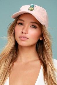 Fresh Squeezed Blush Pink Baseball Cap