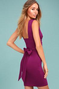 Glam Affair Plum Purple Bodycon Dress