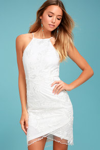 In the Moment White Embroidered Dress