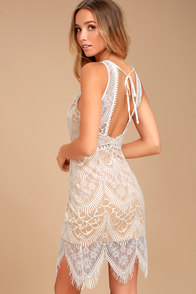 Serious Love White Lace Bodycon Dress