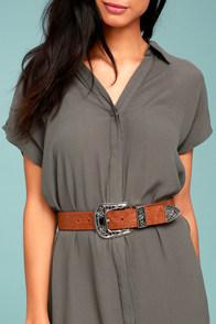 Lovestrength Dayton Brown Leather Belt