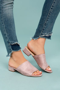 Dreama Rose Suede Mules