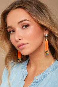 Margarita Miss Orange Beaded Earrings