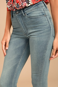 Cheap Monday High Snap Light Wash High-Waisted Skinny Jeans