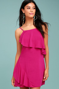 Free as Can Be Magenta Dress
