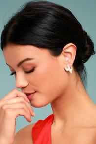 Desert Dance Gold Earrings