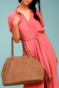 Uptown Mama Brown Tote