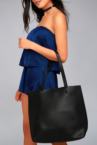 Perfect Simplicity Black Tote