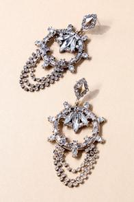The Countess Gold Rhinestone Earrings