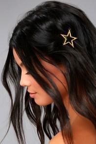 Star Light Gold Hair Clip