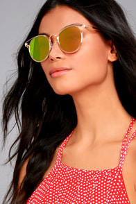 Good Golly Gold and Pink Mirrored Sunglasses
