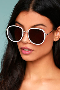 Disco Queen White and Black Sunglasses