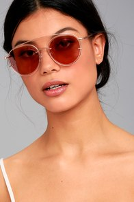 Such a Looker Rose Gold and Pink Mirrored Sunglasses