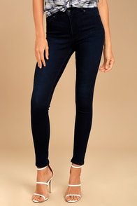 Cheap Monday High Spray Dark Wash High-Waisted Skinny Jeans