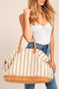 Float Your Boat Tan Weekender Bag