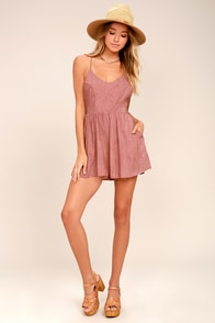 Magic Rush Washed Pink Romper